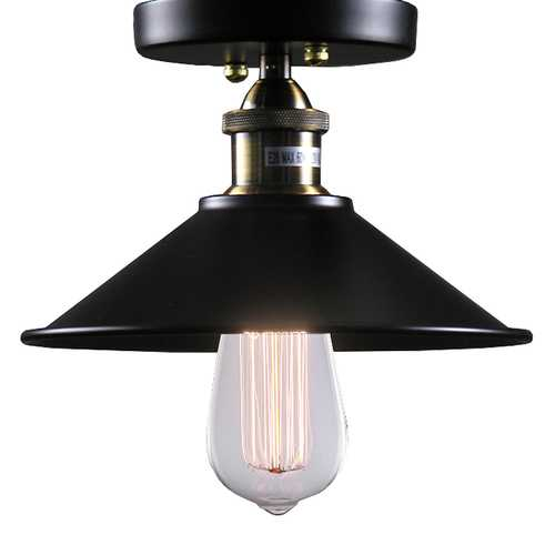 Louise 1-light Black Edison Lamp with Bulb