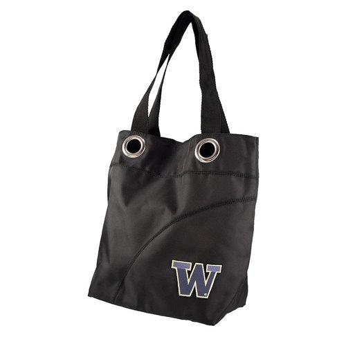 Washington Huskies NCAA Color Sheen Tote (Black)