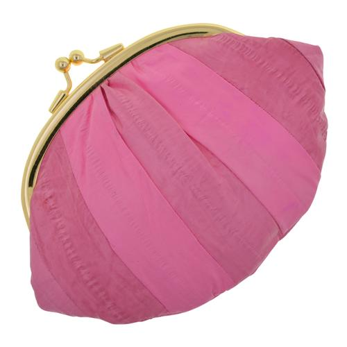 AFONiE-Bubbly Pink Color Genuine Eel Skin Wallet