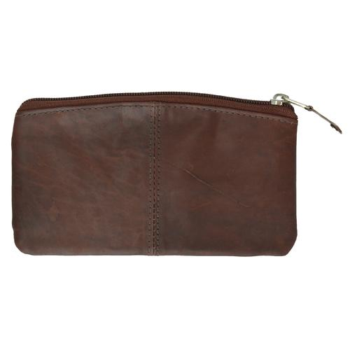 AFONiE-Buggy Carry All Brown Leather Zipper Wallet