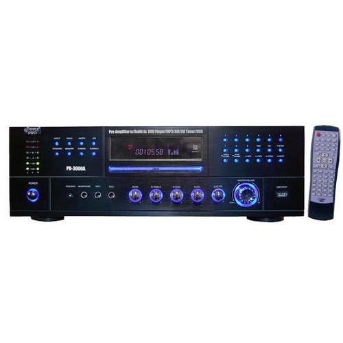 Home Theater Preamplifier Receiver, Audio/Video System, CD/DVD Player, AM/FM Radio, MP3/USB Reader, 3000 Watt
