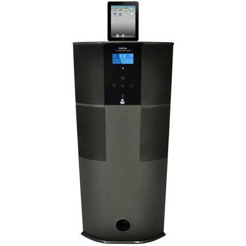 600 Watt Digital 2.1 Channel Home Theater Tower w/ Docking Station for iPod/iPhone/iPad (Black Color)
