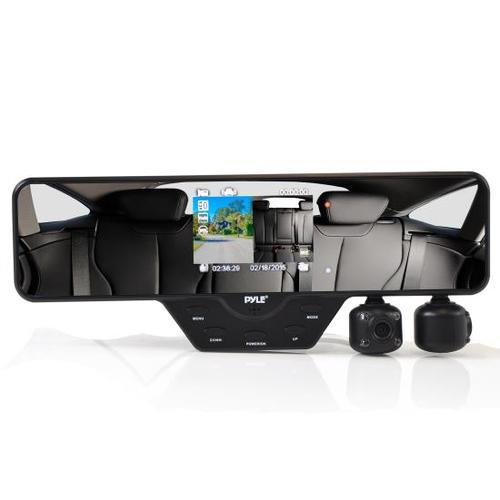Dual Camera DVR Recording Safety Driving System, Full HD 1080p, Rearview Mirror Monitor Assembly