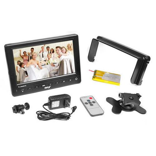 7'' HD Video On-Camera Field Monitor with HDMI, YPbPr, AV, Audio Inputs for Digital Cameras, Video Cameras and DSLR Cameras
