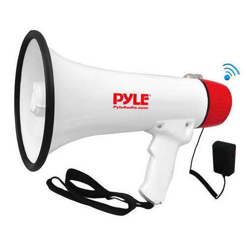 Bluetooth Megaphone Bullhorn with AUX (3.5mm) Input Built-in USB Flash & SD Memory Card Readers