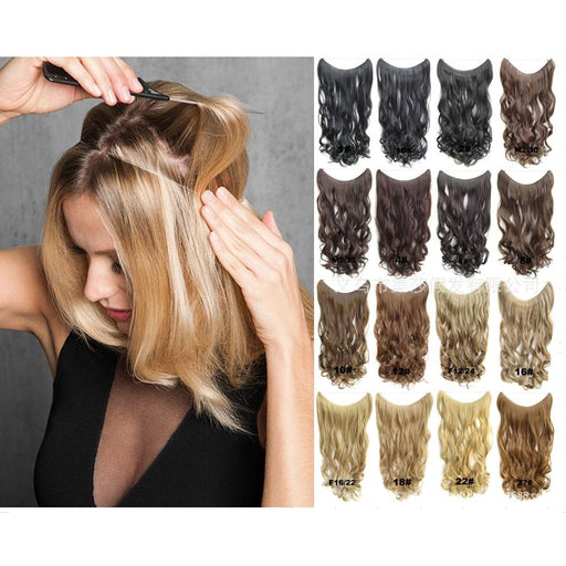 Perfect Halo Lady Hair Braider Flip Hair Extensions Synthetic Hair Weaves The Press With Nylon Yarn Easy to Wear 24inch 1pc 100g