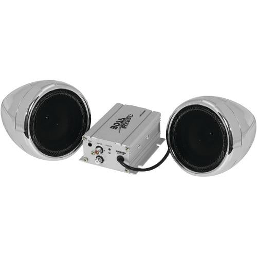Boss Audio 600-watt Motorcycle And All-terrain Speaker & Amp System (silver, With Bluetooth Audio Streaming) (pack of 1 Ea)