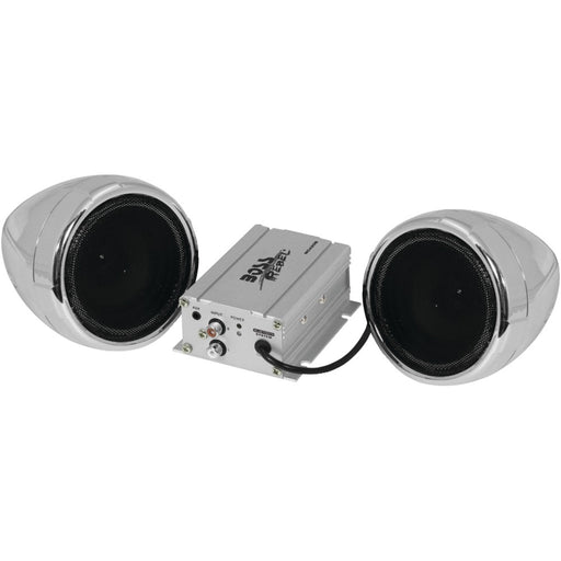Boss Audio 600-watt Motorcycle And All-terrain Speaker & Amp System (silver With Bluetooth Audio Streaming)