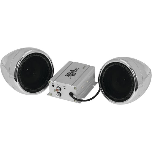 Boss Audio 600-watt Motorcycle And All-terrain Speaker & Amp System (without Bluetooth Silver)