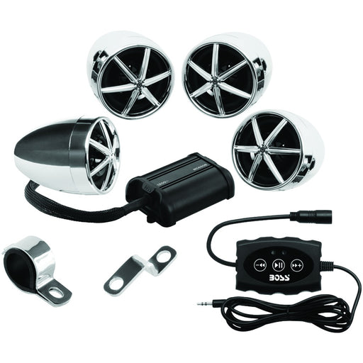 Boss Audio 1200-watt Motorcycle And Atv 4-speaker Sound System With Bluetooth