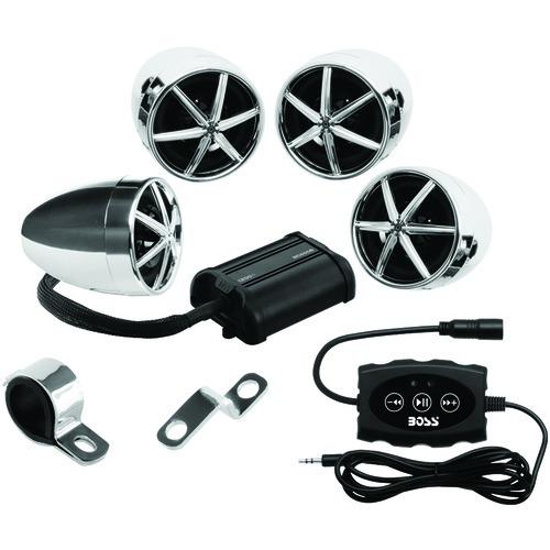 Boss Audio 1,200-watt Motorcycle And Atv 4-speaker Sound System With Bluetooth (pack of 1 Ea)