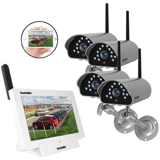 Securityman Inc 4-channel App-based Wireless Security System With 4 Sm-816dtx Cameras