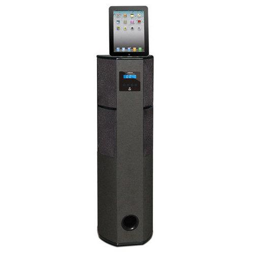 Bluetooth 600 Watt 2.1 Channel Digital Home Theater Tower with iPod, iPad, iPhone Docking Station, FM Radio & Alarm Clock