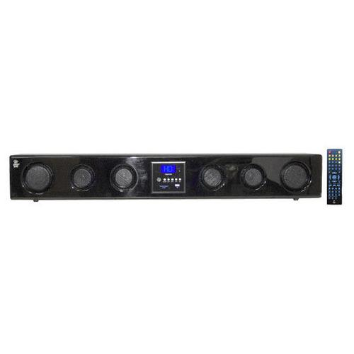 6-Way 300 Watt Multi-Source Wall/Shelf Mount Sound Bar w/USB, SD, MP3, FM Tuner