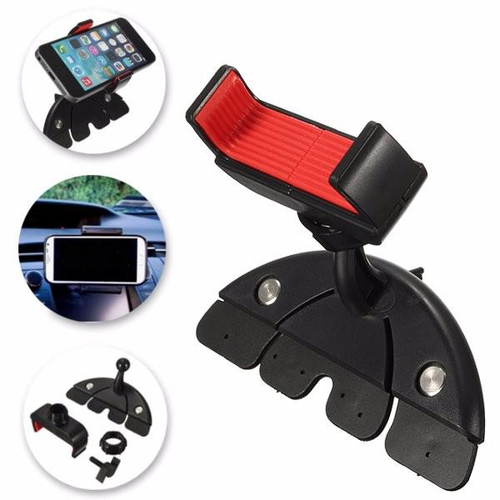 360Universal Car Auto CD Slot Mount Bracket Holder for iPhone 6 Plus Phone GPS