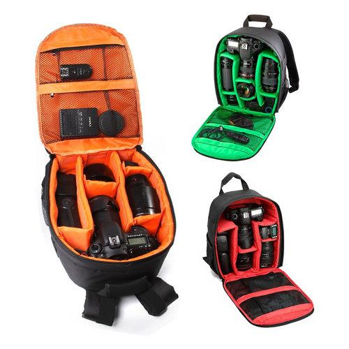 Rain Proof Backpack DSLR Camera Lens Case Storage Bag Rucksack For Canon Nikon Camera