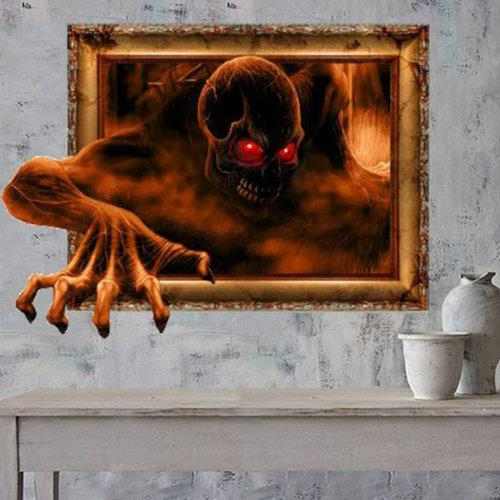 3D Ghost Wall Decals 30 Inch Removable Scary Wall Stickers Wall Art Decor