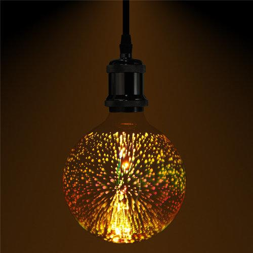 3D Fireworks E27 G125 LED Retro Edison Decor Glass Bulb Light Lamp AC85-265V Cafe Home Decor