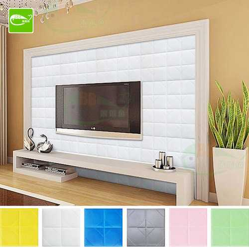 60*60cm PE Foam 3D DIY Wall Stickers TV Background Wallpaper