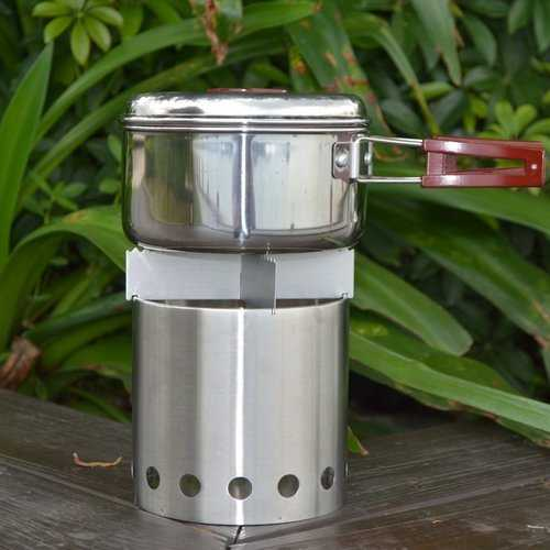 Outdoor Stainless Steel Wood Stove