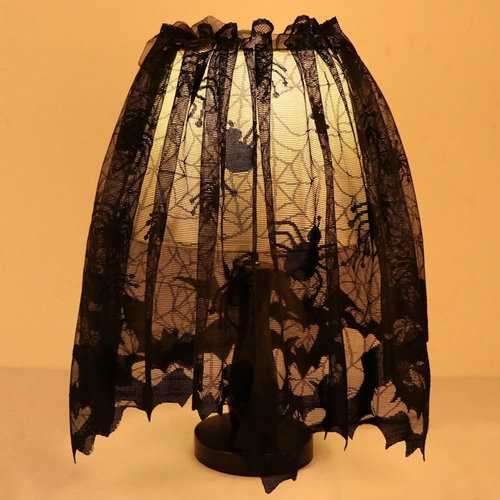 Halloween Spider Web Bat Lamp Shade