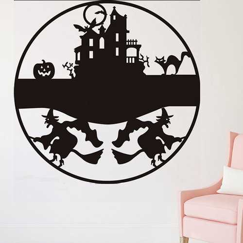 Castle Witch Halloween Wall Stickers