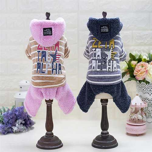 Pet Cloth Hoodie Warm Winter Sportswear Puppy Coat