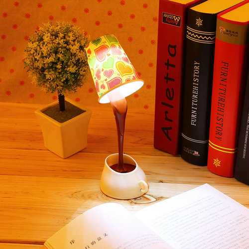 Creative DIY Coffee Cup Lampshade LED