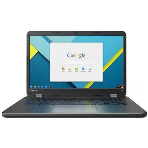 A LENOVO Chromebook N42 80VJ0000US Laptop PC - Intel Celeron N3060 1.6 GHz Dual-Core Processor - 4 GB RAM - 16 GB Solid State Drive - 14-inch Touchscreen Display - Chrome OS - Black
