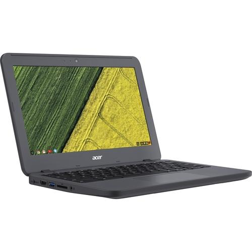 A Acer Chromebook 11 N7 C731T-C42N 11.6 Touchscreen Chromebook - Intel Celeron N3060 Dual-core (2 Core) 1.60 GHz - 4 GB LPDDR3 - 16 GB Flash Memory - Chrome OS - 1366 x 768 - CineCrystal, In-plane Switching (IPS) Technology - Gray - Intel HD Graphics 400