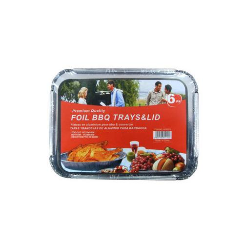 Barbecue tray and lid 6 pieces ( Case of 12 )