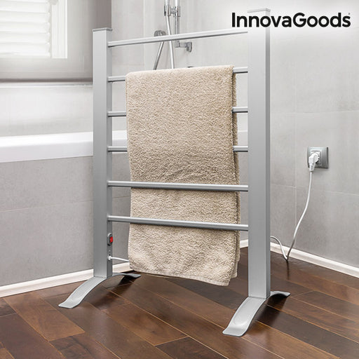 InnovaGoods 90W Grey Electric Towel Rail (6 Bars)