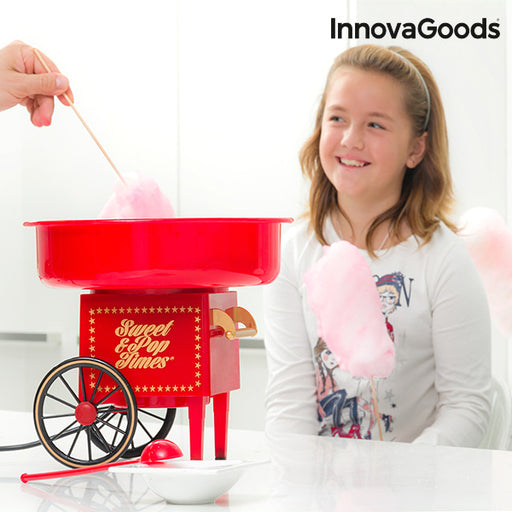 InnovaGoods Candyfloss Machine 500W Red