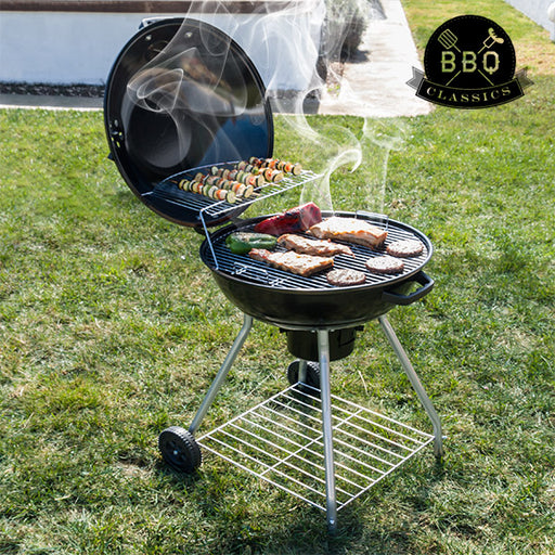 BBQ Classics Black Charcoal Barbecue with Lid and Wheels