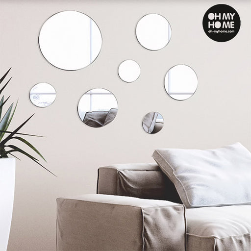 Oh My Home Geometric Mirrors with Stickers (pack of 7)