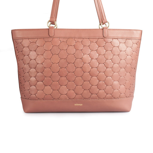 Anqa Leather Tote Bag | Antique Pink