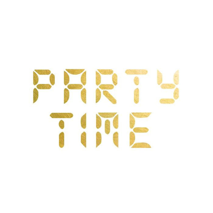 2 PACK Party Time Gold Tattoo