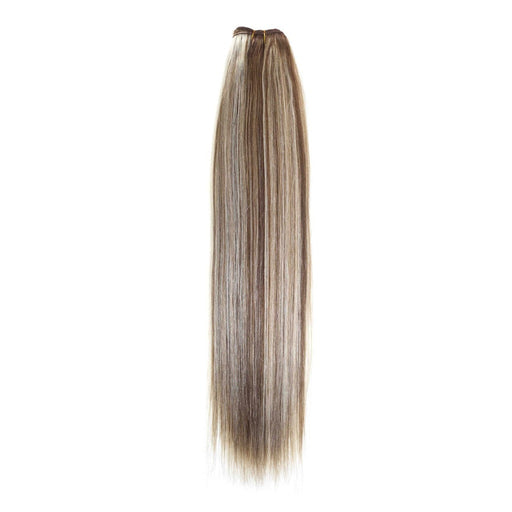 Euro Silky Weave | Human Hair Extensions | 18 inch | Colour Light Brown Sunshine Blonde Mix (P6/24)