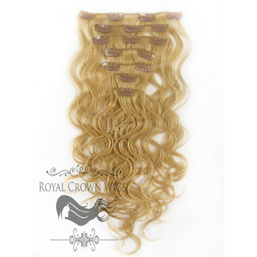 14 inch 7 Piece Body Wave Human Hair Weft Clip-In Extensions in #14