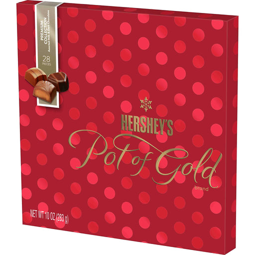 HERSHEY'S POT OF GOLD Assorted Milk and Dark Chocolate Premium Collection, 10 oz