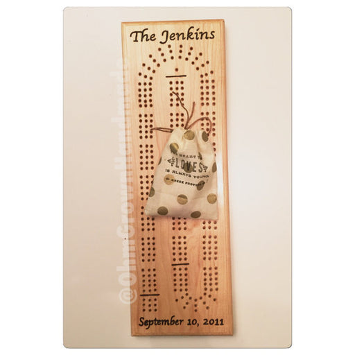 Custom Cribbage Board Maple Handmade Games Cards Playing Cards Personalized Custom New England Wedding Anniversary