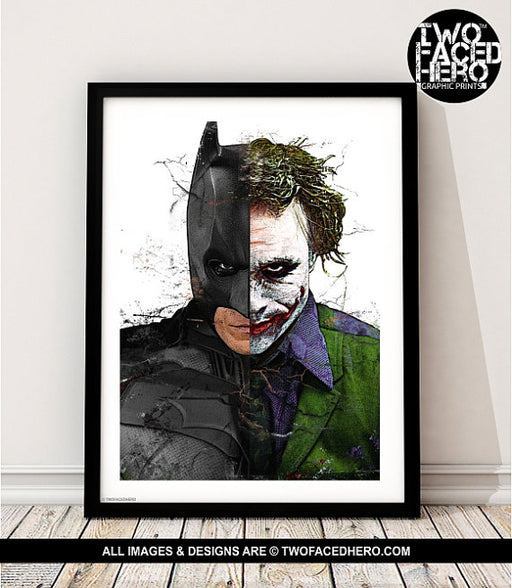 Batman & Joker Art Print, DC Superhero Inspired, Quote, Justice League Art, Suicide Squad, Batman v Superman, The Dark Knight