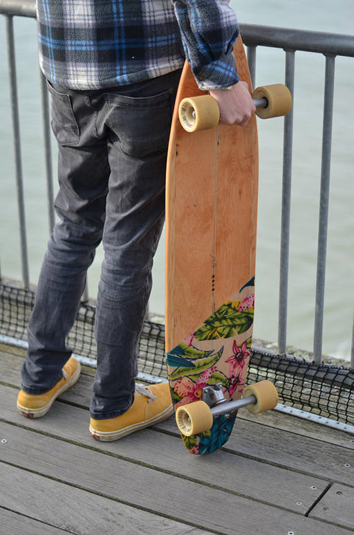 Handmade custom longboard // 100% ECO FRIENDLY // made from reclaimed timber