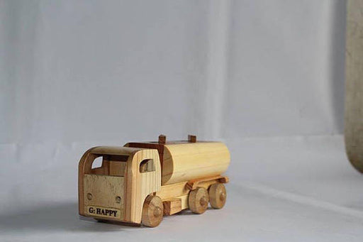 Gasoline Tanker (S) Wooden Handmade | Waldorf Push Toy Eco Natural Friendly | Wood Car Birthday Christmas Keepsake Gift Desktop Accessories
