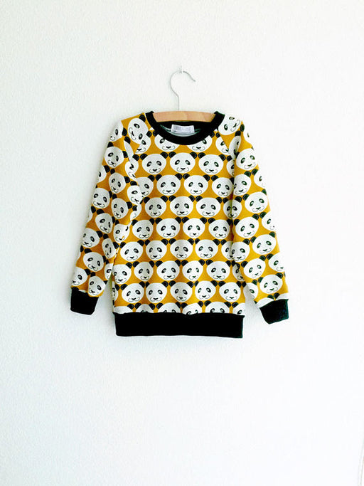 Kids sweatshirt, panda sweater, toddler sweatshirt, baby boy sweatshirt, baby girl sweatshirt, panda baby clothing, hipster baby clothes