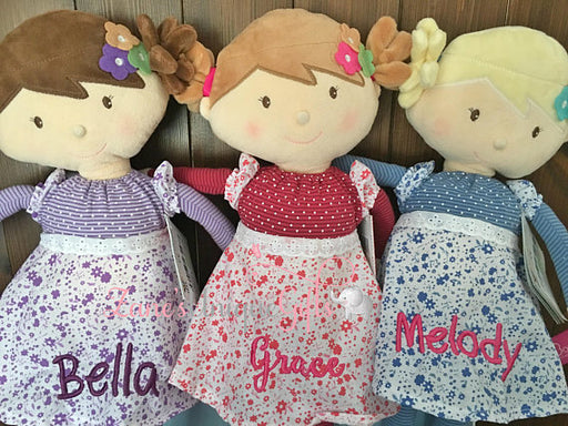 Personalised Rag Doll / Handmade Doll / Dolls for Girls / Soft Dolls / Doll Bear / Doll for Baby Girls / Doll for Gift / First Birthday Gift