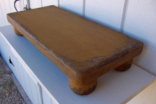 Rustic table riser farm bench farmhouse primitive small painted distressed country early American farm decor