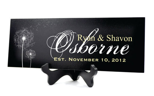 Personalized Family Name Sign Family Established Sign 7x20