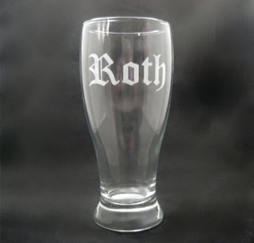 5 Custom Engraved Pilsner Glasses for Groomsmen
