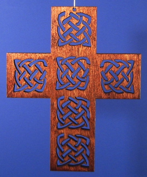 Small Wood Celtic Knot Cross